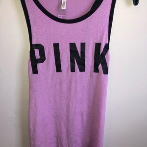 Purple PINK Victoria secret muscle tee top